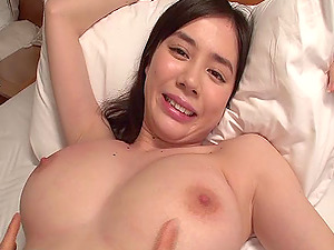 Kinky Asian chick with big stunning tits luving a hard-core fuck