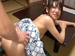 Steamy Japanese honey practices her very first time heated romp session