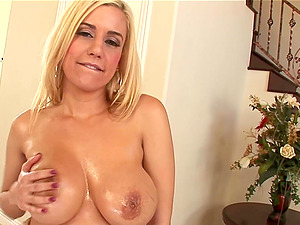 Horny blonde welcomes a big black dick deep in her taut anal invasion
