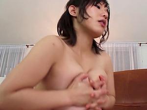 Naturally big boobed Asian Mummy gives a tremendous boob job