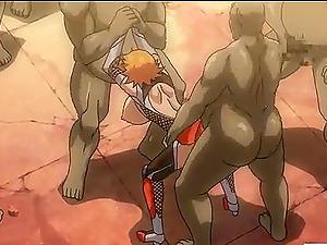 Caught anime porn ladies gets fucked
