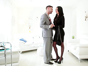 Things get so intense at work these two have to fuck to relieve stress