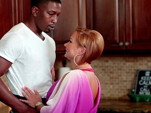 Hubby observes his redheaded lady get rammed by black man sausage