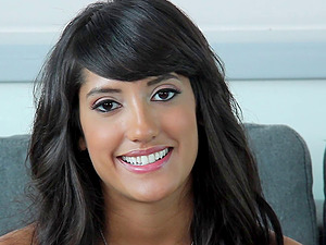 Gorgeous Chloe Amour on the casting couch for dick