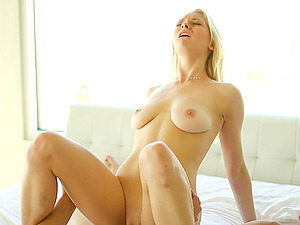 Blue eyed Alli Rae fucked by his big uncircumcised dick meat