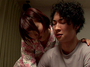 Very pretty Japanese stunner taken hard from behind and nutting