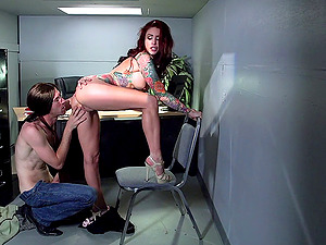 In his office a fellow bangs his hot fresh assistant and cums on her tits