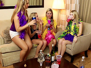 Mardi Gras soiree turns into a total gargled group bang-out soiree
