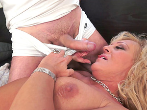 Grandma is retired, but she still loves to get some hard hard-on