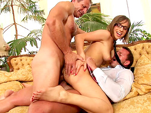 Beautiful Tina Hot has hot all fuck-holes hook-up with two folks
