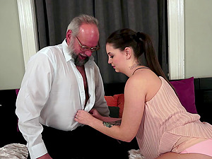 Old and Youthfull bang-out with a grandpa fucking a hot arse gal