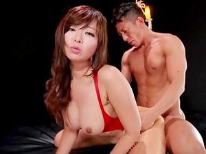 Big perky boobies Japanese dame fucked in her raw cunt