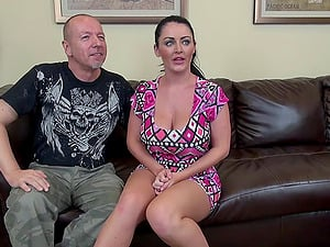Big sexy tits on Sophie Dee fucking a fat dick dude