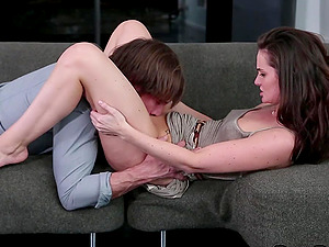 Lily Carter not only bj's but also permits her counterpart to drill her!