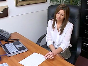Smoking hot assistant ball slurping pending reality hump in the office