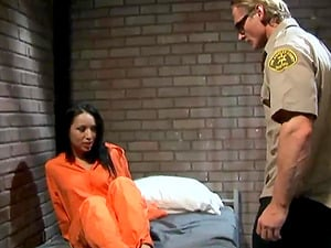 Superb gonzo demonstrate with a big-boobed jailer av model and a warden
