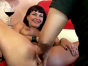 Cougar rock chick pounded in her pierced labia and loaded with jizm
