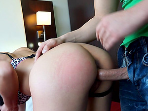 Shanel's hairless snatch is a flawless target for his rock-solid dick