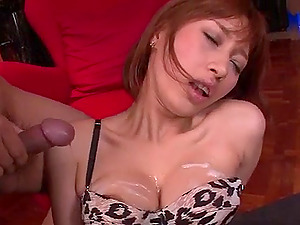 Pantyhose oral scenes along mischievous Tiara Ayase