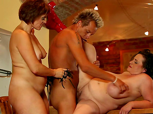 Delicious fat honies Sandra and Dominika are here to share the dick