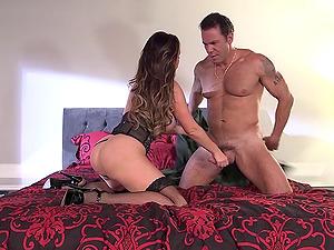 Black stockings are gorgeous on horny bimbo stunner Nikki Benz