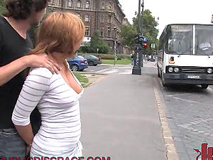 Dirty Blonde Honey Gets Fucked in a Bus