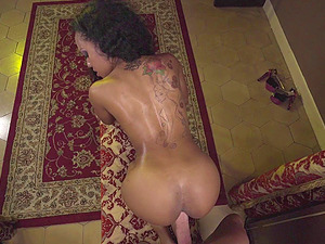 Sweetest chocolate dame luvs getting the spunky drilling