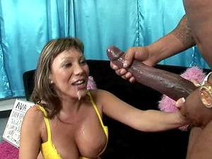 Sexy Ava wins at lottery and gets rewarded with a humongous man sausage