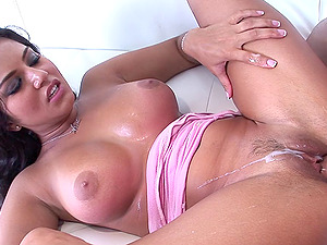 Sexy senorita with big tatas loves being rammed indeed hard