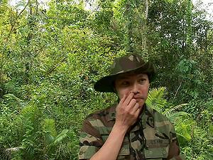 Military boy lovin? her big black man rod getting refined hard-core