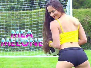 Two soccer-loving honies getting the threesome treatment on the field