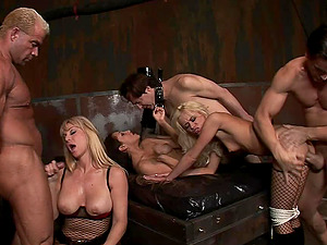 Girl-on-girl restrain bondage session quickly turns into the wild cootchie pounding