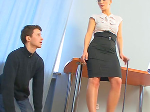 Maya's pathetic man has to do everything that she wants him to do