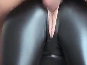 cheating housewife in leather garb