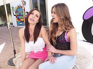 Aidra and her friend Jillian are still in love with the ass fucking drilling