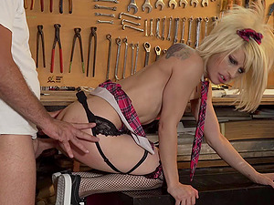Ass-fuck doggy-style drilling is just what Nora Barcelona needed today