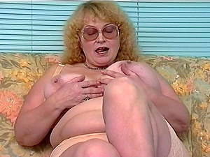 Mature Dutch chick with large tits and her amazing onanism session