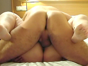 Nice shoot of natural tits matured bbw providing giant dick tit drilling