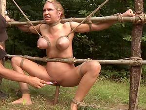Never-to-be-forgotten restrain bondage escapade deep in the green wilderness