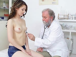 Petite looker Timea Bella gets fucked by her kinky physician