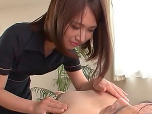 Prettiest Japanese massagist wants to have joy with that nice erection