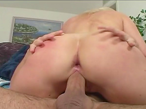 A very pretty blonde wants Andrew's shaft inwards her taut asshole