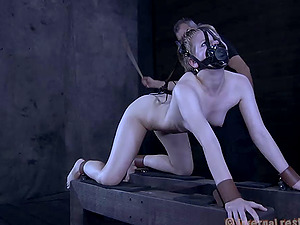 Petite woman with the brief hair and the Domination & submission night she'll never leave behind