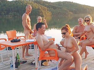 Gonzo group lovemaking session featuring a pile of lusty chicks