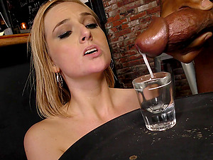 Gorgeous Kate England eventually finds herself encircled by black dicks