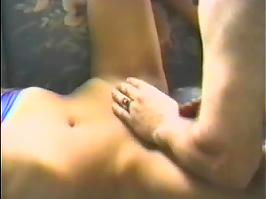 Horny woman's hairy cunt plowed hard by a beautiful hunk