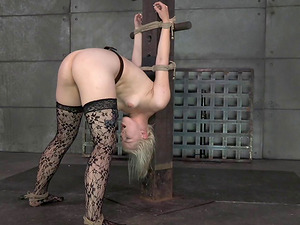 Nice booty restrain bondage doll leaning over when pounded xxx in Sadism & masochism