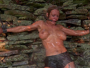 Sub vulva gets ravished before ruthlessly torment in outdoor Sadism & masochism