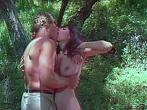 Retro forest shoot of stunner providing fat dick superb tit banging