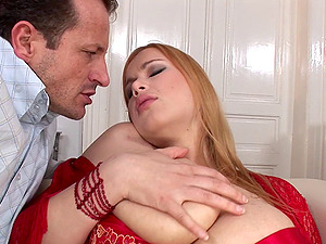 Curvy princess Terry Nova receives two peckers and senses very blessed